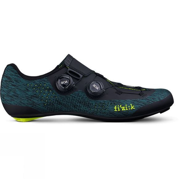 Fizik Infinito R1 Knit Road Shoe Petrleum Blue Knit/Yellow