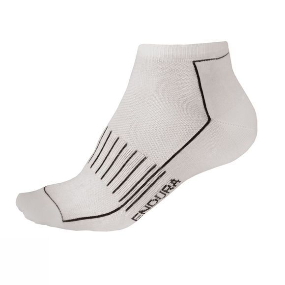 Endura CoolMax Race Trainer Socks (Triple Pack) White
