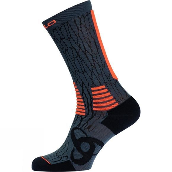 Odlo Ceramicool Socks - Long Black/Orange Clownfish