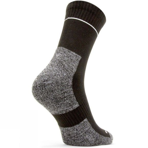 SealSkinz Mens Solo QuickDry Ankle Length Sock Black/Mid Grey