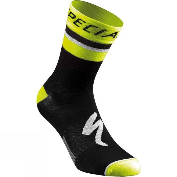 Specialized RBX Comp Logo Summer Sock Black/ Neon Yellow
