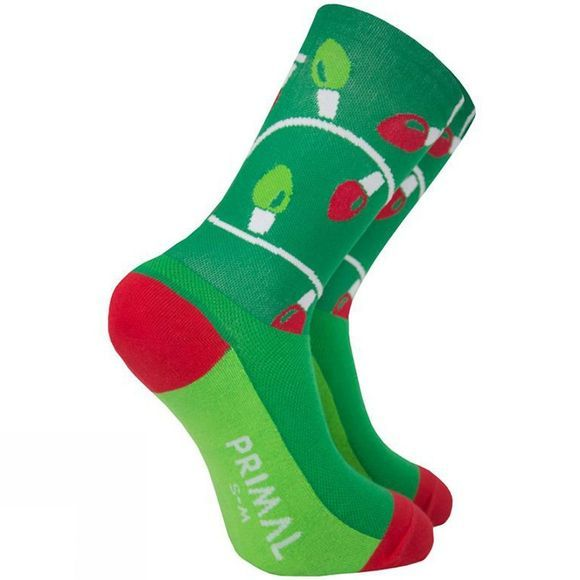 Primal Christmas Light Socks Green/ Red/ White
