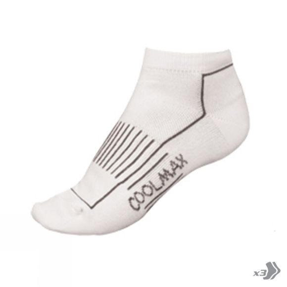 Endura Women's CoolMaxTrainer Socks (Triple Pack) White