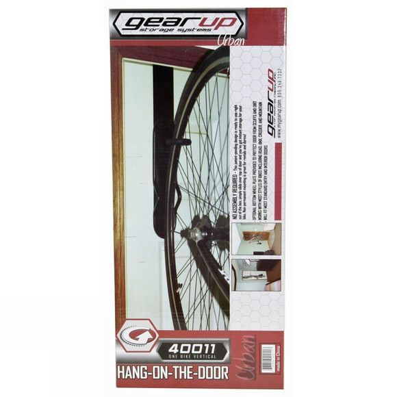 Sports Hang on Door Vertical Bike Storage Black