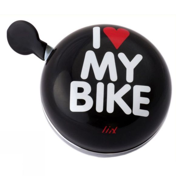 Liix I Love My Bike Ding Dong Bell Black