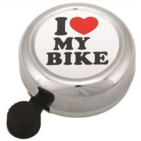 Widek 'I Love My Bike' Bell Silver