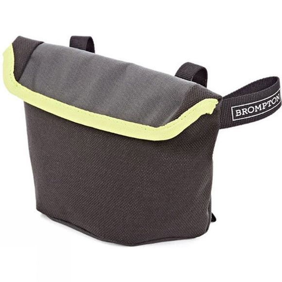 Brompton Saddle Pouch Bag Grey/Black/Lime Green trim