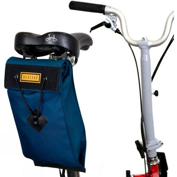 Restrap City Saddle Bag - Large (For Folding Bikes) Navy Blue
