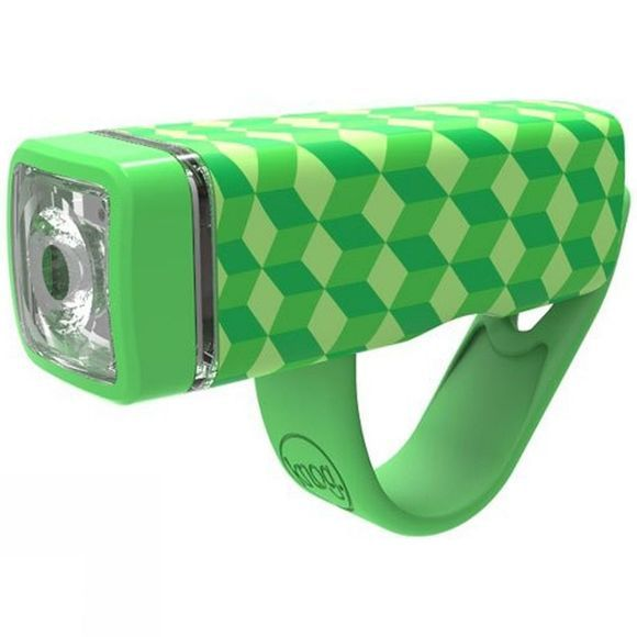 Knog Pop I Kids Front Light Green Pattern