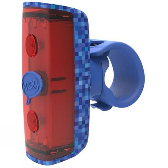 Knog Pop Kids Rear Light Blue Pattern