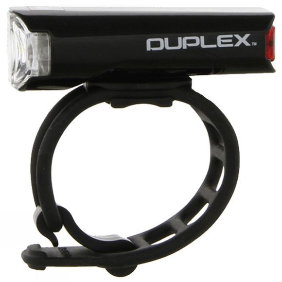 Cateye Duplex Front and Rear Helmet Battery Light Black