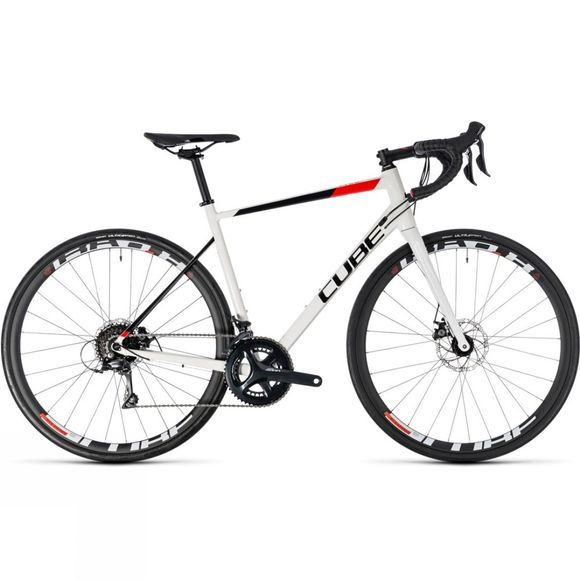 Cube Attain Pro Disc 2018 white/red