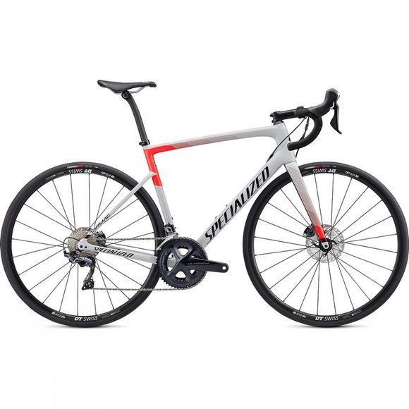 Specialized Unisex Tarmac Disc Comp 2020 Gloss Dove Grey/Rocket Red/Tarmac Black