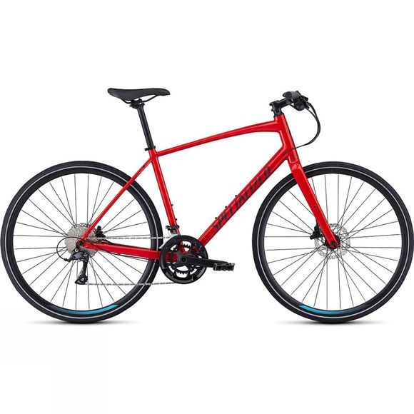 Specialized Sirrus Sport 2019 Gloss Flo Red/Black/Black Reflective