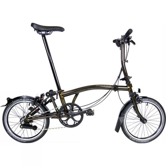 Brompton S6R Black Edition Premium 2018 Raw Lacquer/Black Edition/Dynamo/Carry Block/Telescopic