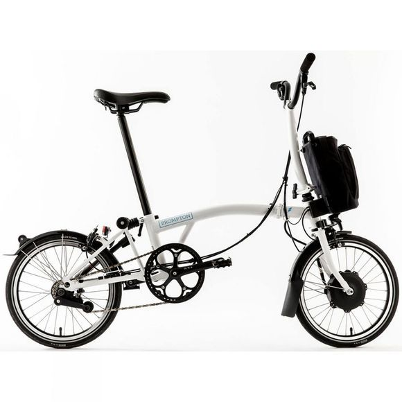 Brompton M6L Electric with Essential Bag Gloss White