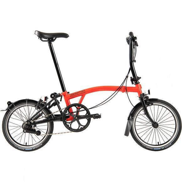 Brompton S6L Black Edition Superlight 2020 Gloss Rocket Red/Black Edition