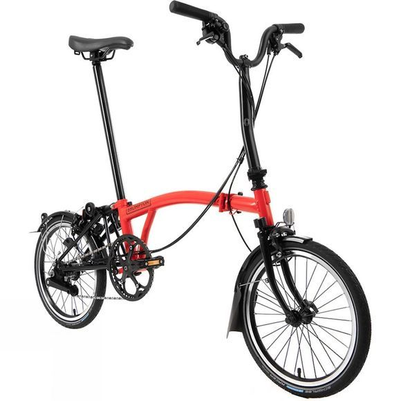 Brompton M6L Black Edition 2020 Gloss Rocket Red/Black Edition