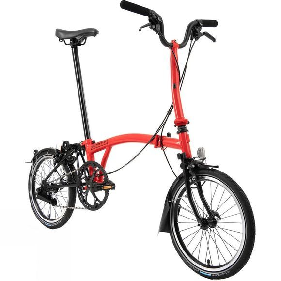 Brompton M6R Black Edition 2020 Gloss Rocket Red/Black Edition