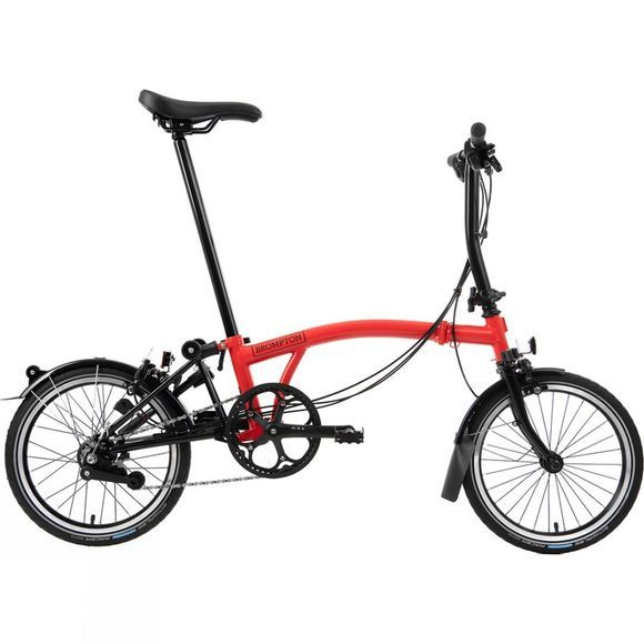 Brompton S6L Black Edition 2020 Gloss Rocket Red/Black Edition