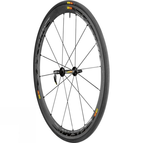 Mavic Cosmic Carbone 40 Front Wheel Black          /Dk Grey