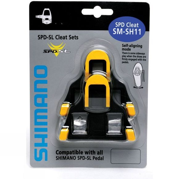 Shimano SPD SL Cleats 6 Degree Float Yellow/Black