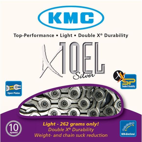 KMC X10-EL 10 Speed Silver Chain Silver