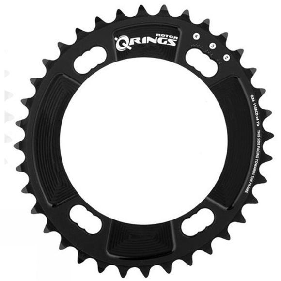 Rotor Q Ring 4 Bolt 38 Tooth Chainring Black