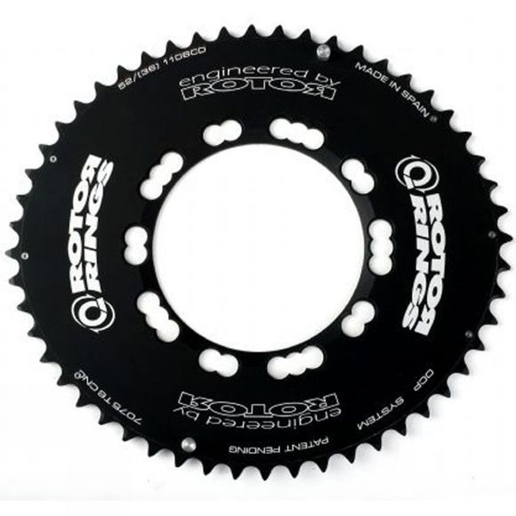Q-Ring Aero 53 Tooth 110BCD Compact Chainring