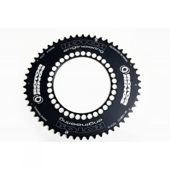 Rotor Q-Ring Aero 52 Tooth 130BCD Chainring Black