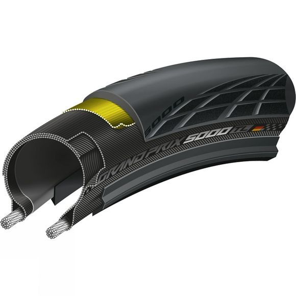 Continental Grand Prix 5000 Tubeless Tyres Black