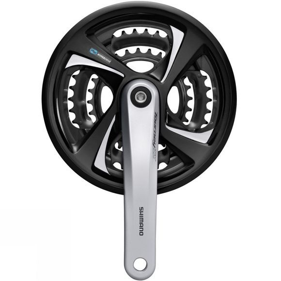 Shimano FC-TX801 Tourney Triple Chainset, 48/38/28T, 7/8-speed Silver