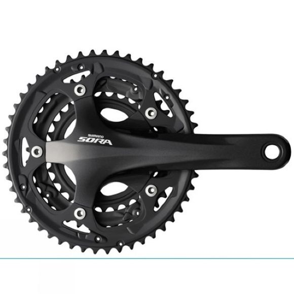 Shimano FC-R3030 Sora 9-Speed Chainset 50/39/30T Black