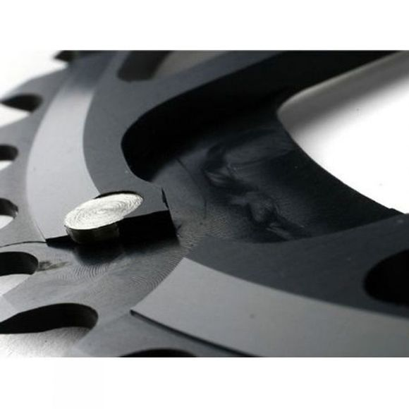 Rotor Q-Ring 50 Tooth 110x5 Bolt Outer Aero Chainring Black